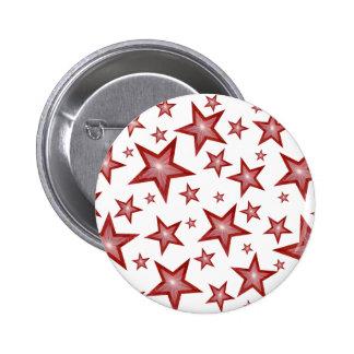 El rojo protagoniza blanco del botón pin redondo de 2 pulgadas