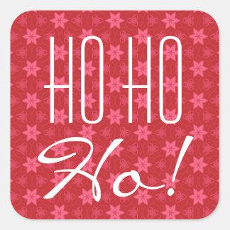 ¡El rojo protagoniza Ho Ho Ho! Tipografía Pegatina Cuadrada