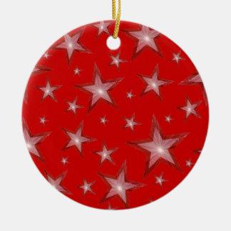 El rojo protagoniza rojo redondo del ornamento ornamente de reyes