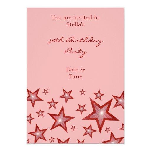 El rojo protagoniza rosa vertical de la invitación invitación 12,7 x 17,8 cm