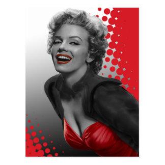 El rojo puntea a Marilyn Tarjetas Postales