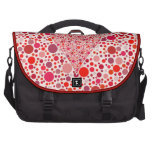 El rojo puntea lunares del rosa de la forma del co bolsas de portátil