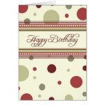 El rojo puntea negocio de la tarjeta de cumpleaños