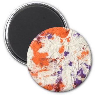 el rojo púrpura anaranjado arrugó diseño de la toa iman de nevera