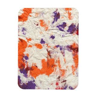 el rojo púrpura anaranjado arrugó diseño de la toa iman rectangular