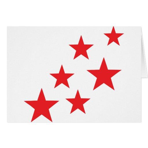 el rojo que vuela protagoniza el icono tarjeta de felicitación