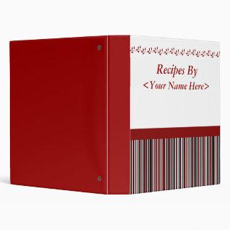 """El rojo raya el libro de la receta carpeta 1"""""""