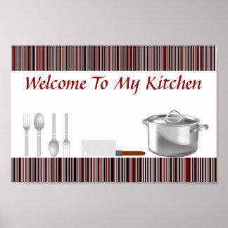 El rojo raya el poster de la cocina