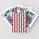 El rojo raya las estrellas azules baraja de cartas
