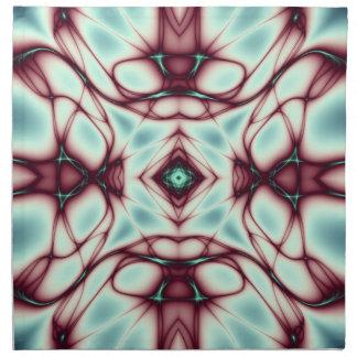 El rojo remolina arte abstracto servilleta de papel