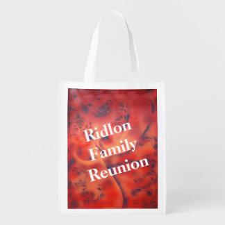 El rojo remolina en bolso abstracto de la bolsa de