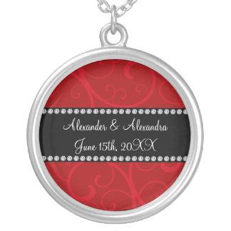El rojo remolina los favores del boda joyeria personalizada