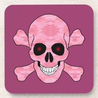 El rojo rosado de Camo observa el cráneo y los Posavasos