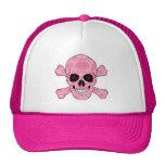 El rojo rosado del camuflaje observa el cráneo y gorros bordados