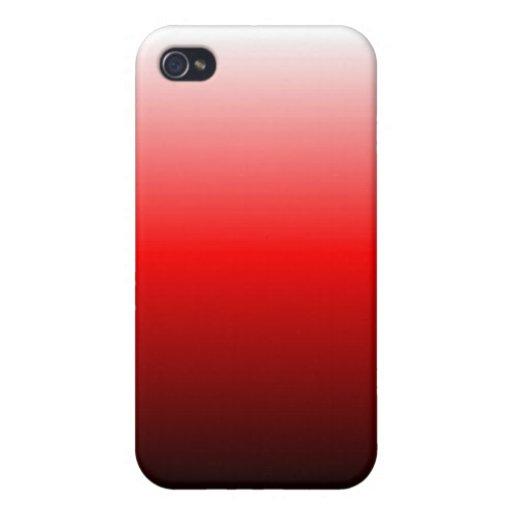 El rojo se descolora caja de la mota iPhone 4 funda