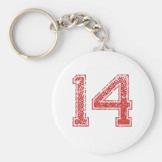 El rojo se divierte Jerzee número 14 Llaveros