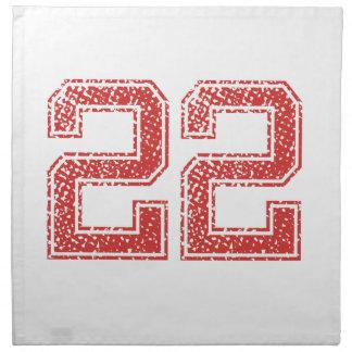 El rojo se divierte Jerzee número 22 Servilletas
