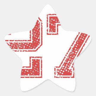 El rojo se divierte Jerzee número 27 Calcomanias Forma De Estrella