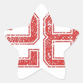 El rojo se divierte Jerzee número 28 Calcomanias Forma De Estrella