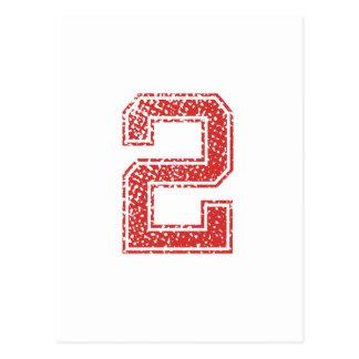 El rojo se divierte Jerzee número 2 Postal