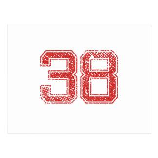 El rojo se divierte Jerzee número 38 Postal