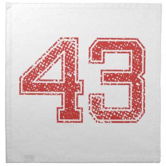 El rojo se divierte Jerzee número 43 Servilletas Imprimidas