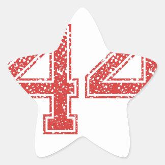 El rojo se divierte Jerzee número 44 Pegatinas Forma De Estrellaes Personalizadas