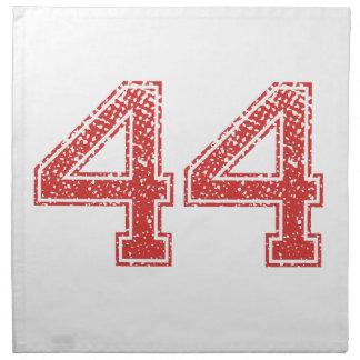 El rojo se divierte Jerzee número 44 Servilleta De Papel