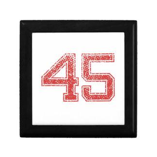 El rojo se divierte Jerzee número 45 Cajas De Joyas