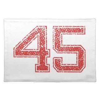 El rojo se divierte Jerzee número 45 Mantel