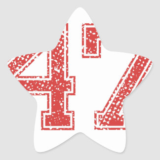 El rojo se divierte Jerzee número 47 Colcomanias Forma De Estrellaes Personalizadas