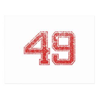 El rojo se divierte Jerzee número 49 Postales