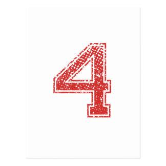 El rojo se divierte Jerzee número 4 Tarjetas Postales