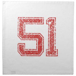 El rojo se divierte Jerzee número 51 Servilletas Imprimidas