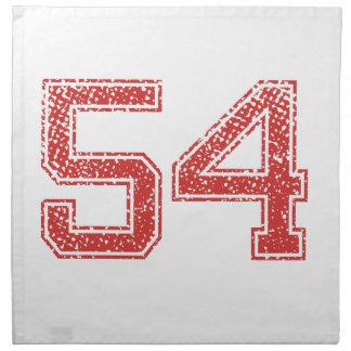 El rojo se divierte Jerzee número 54 Servilletas De Papel