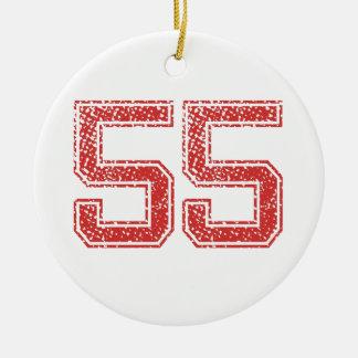 El rojo se divierte Jerzee número 55 Adorno De Reyes