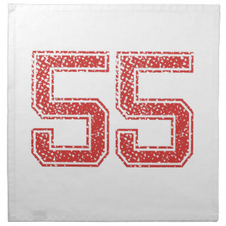 El rojo se divierte Jerzee número 55 Servilleta Imprimida