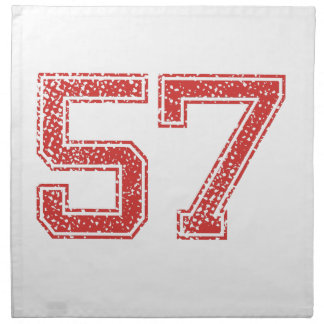 El rojo se divierte Jerzee número 57 Servilleta