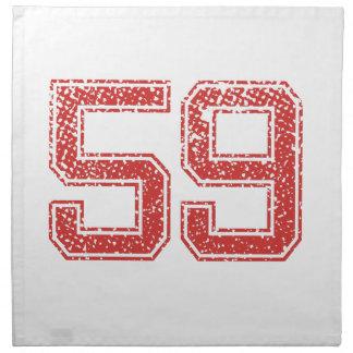 El rojo se divierte Jerzee número 59 Servilletas