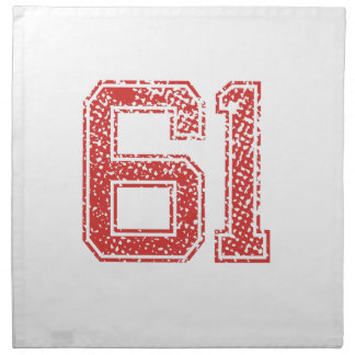 El rojo se divierte Jerzee número 61 Servilleta Imprimida