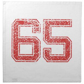 El rojo se divierte Jerzee número 65 Servilletas De Papel