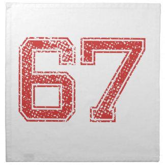 El rojo se divierte Jerzee número 67 Servilletas De Papel