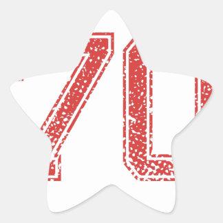 El rojo se divierte Jerzee número 70 Calcomanía Cuadrada Personalizada
