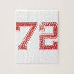 El rojo se divierte Jerzee número 72 Puzzle