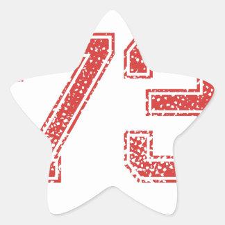 El rojo se divierte Jerzee número 73 Colcomanias Forma De Estrellaes Personalizadas
