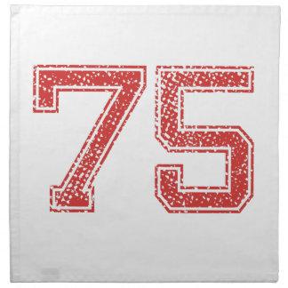 El rojo se divierte Jerzee número 75 Servilletas Imprimidas