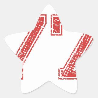 El rojo se divierte Jerzee número 77 Calcomanía Forma De Estrellae
