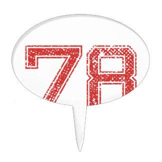 El rojo se divierte Jerzee número 78 Decoraciones De Tartas