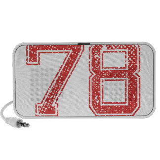 El rojo se divierte Jerzee número 78 Laptop Altavoz