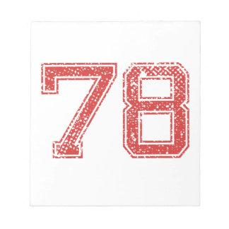 El rojo se divierte Jerzee número 78 Blocs